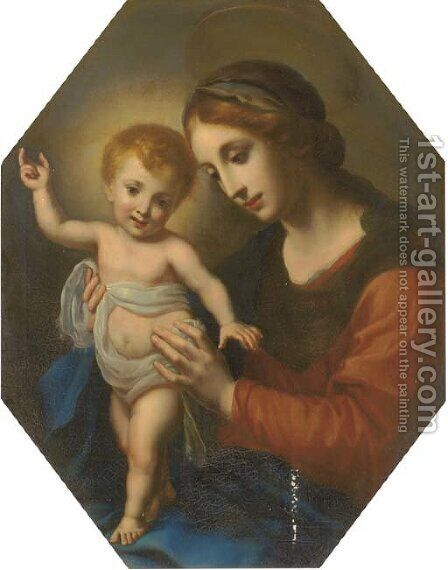 The Madonna and Child by (after) Carlo Dolci - Reproduction Oil Painting