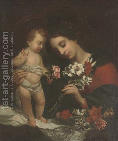 The Madonna and Child 2 by (after) Carlo Dolci - Reproduction Oil Painting