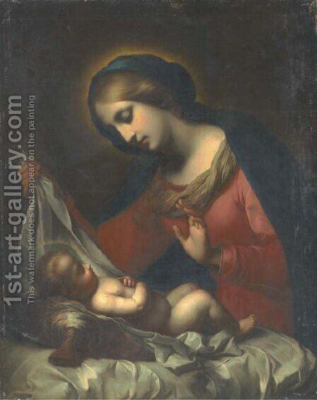 The Madonna of the Veil by (after) Carlo Dolci - Reproduction Oil Painting