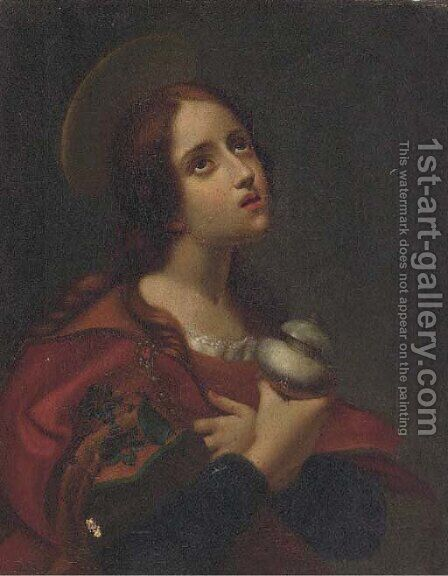 The Penitent Magdalen by (after) Carlo Dolci - Reproduction Oil Painting