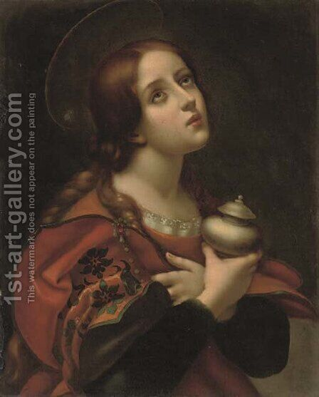 The Penitent Magdalen 3 by (after) Carlo Dolci - Reproduction Oil Painting