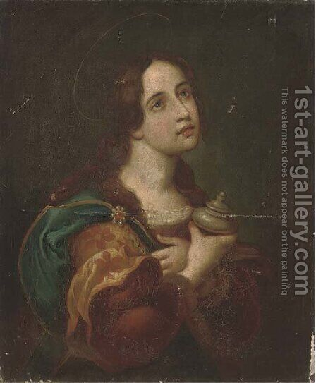 The Penitent Magdalen 4 by (after) Carlo Dolci - Reproduction Oil Painting