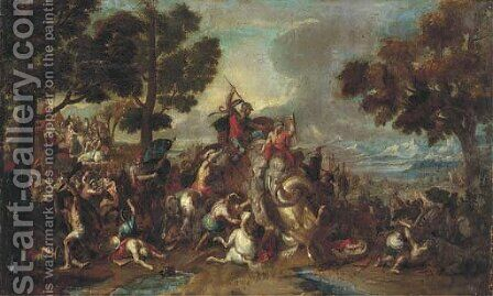 The Defeat of Porus by (after) Charles Le Brun - Reproduction Oil Painting