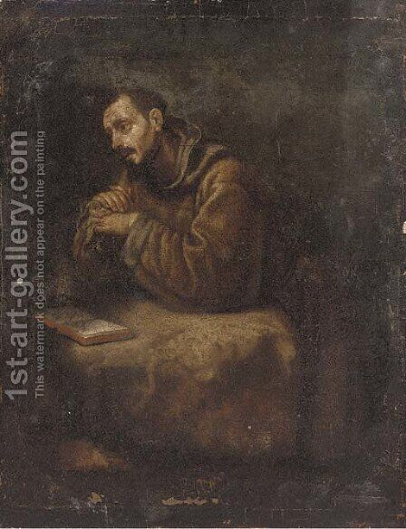 Saint Francis by (after) Cristofano Allori - Reproduction Oil Painting