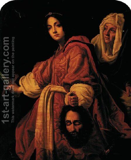 Judith with the head of Holofernes by (after) Cristofano Allori - Reproduction Oil Painting