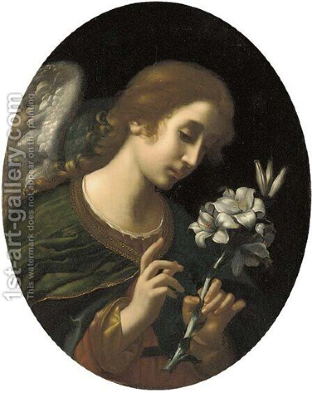 An Angel of the Annunciation by (after) Carlo Dolci - Reproduction Oil Painting