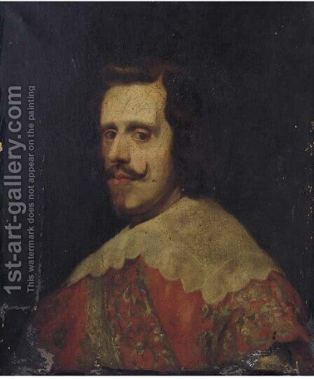 Portrait of Philip IV of Spain by (after) Diego Rodriguez De Silva Y Velazquez - Reproduction Oil Painting