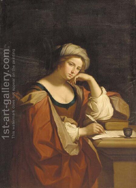 The Persian sybil by (after) Domenichino (Domenico Zampieri) - Reproduction Oil Painting