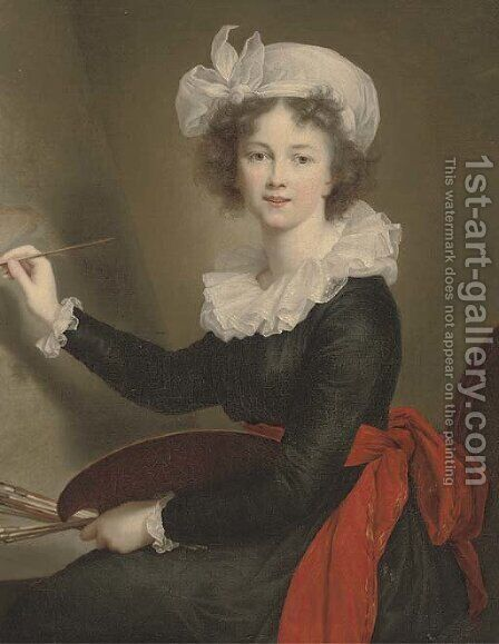 Portrait of the artist by (after) Elisabeth Vigee-Lebrun - Reproduction Oil Painting