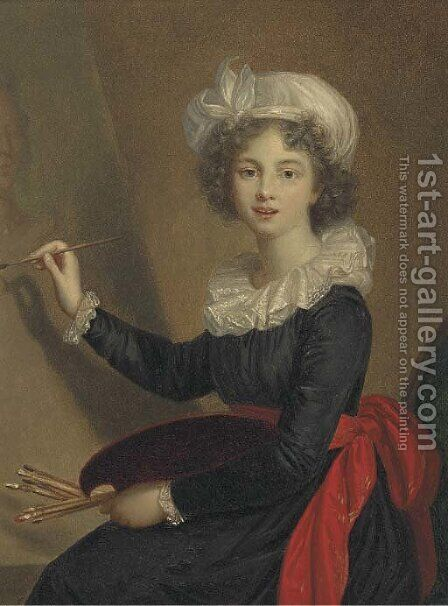 Portrait or the artist by (after) Elisabeth Vigee-Lebrun - Reproduction Oil Painting