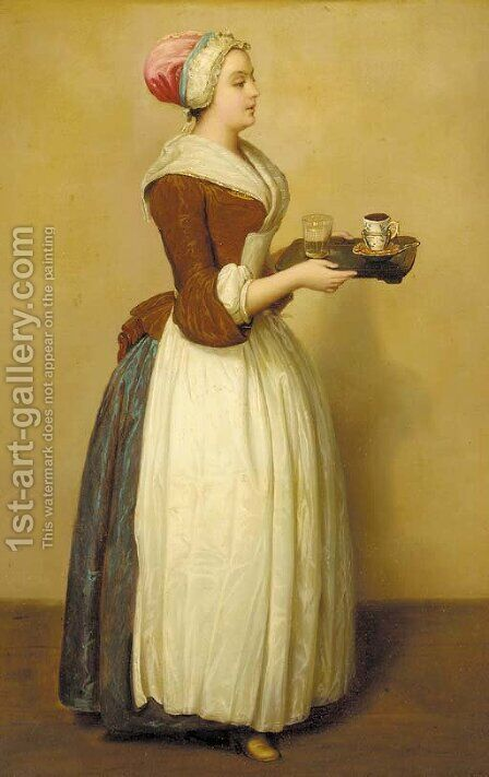 La chocalaterie by (after) Etienne Liotard - Reproduction Oil Painting