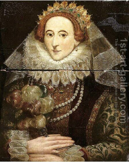 Portrait of Queen Elizabeth I of England (1533-1603) by (after) Federico Zuccaro - Reproduction Oil Painting