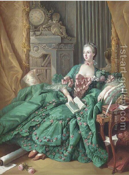 Madame de Pompadour by (after) Francois Boucher - Reproduction Oil Painting