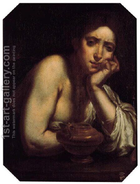 The Penitent Magdalen by (after) Francesco Furini - Reproduction Oil Painting