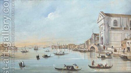 View of the Zattere, Venice by (after) Francesco Guardi - Reproduction Oil Painting