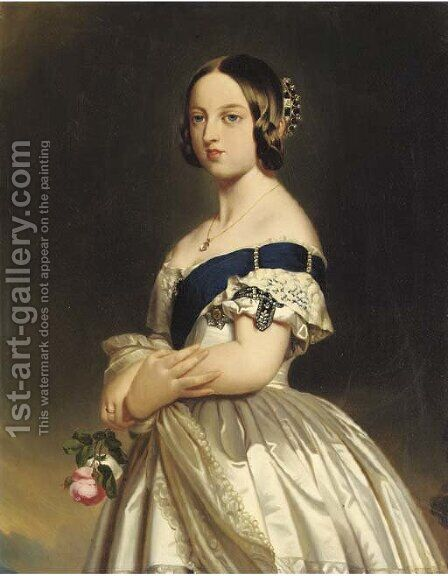 Queen Victoria by (after) Franz Xaver Winterhalter - Reproduction Oil Painting