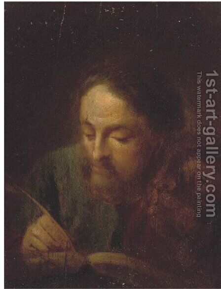 Saint Luke by (after) Giovanni Battista Piazzetta - Reproduction Oil Painting