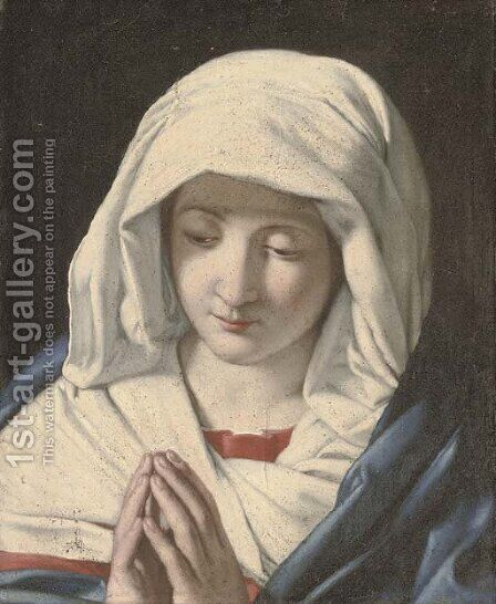 The Virgin at Prayer by (after) Giovanni Baptista Salvi, Called Sasseferroto - Reproduction Oil Painting