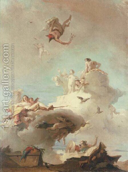 The Triumph of Venus by (after) Giovanni Battista Tiepolo - Reproduction Oil Painting