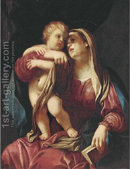 The Madonna and Child by (after) Giovanni Maria Viani - Reproduction Oil Painting