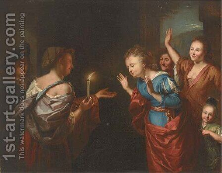The Wise and Foolish Virgins by (after) Godfried Schalken - Reproduction Oil Painting