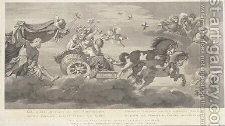 The Chariot of Aurora by (after) Guido Reni And Francisco Barberi - Reproduction Oil Painting