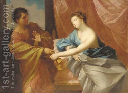 Joseph and Potiphar's wife by (after) Guido Reni - Reproduction Oil Painting