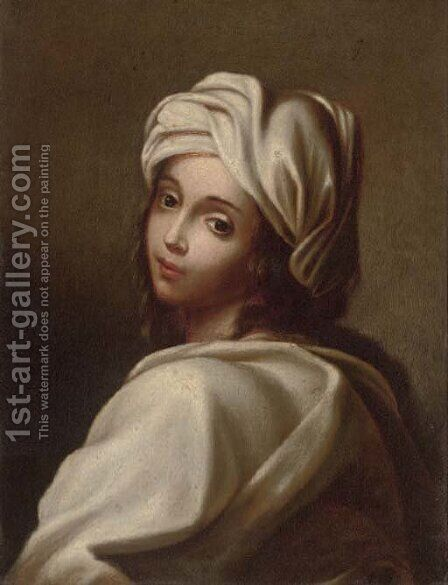 Portrait of a girl 3 by (after) Guido Reni - Reproduction Oil Painting