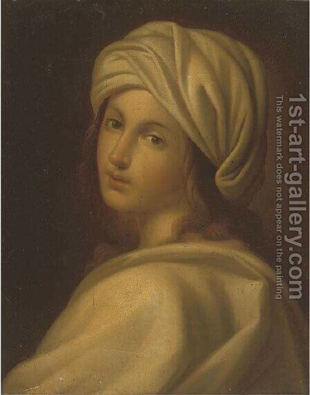 Portrait of a girl 5 by (after) Guido Reni - Reproduction Oil Painting