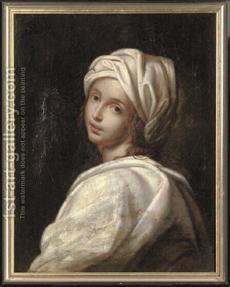 Portrait of Beatrice Cenci 3 by (after) Guido Reni - Reproduction Oil Painting
