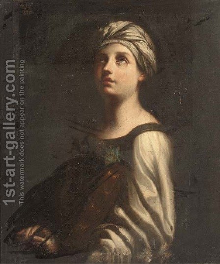 Saint Cecilia by (after) Guido Reni - Reproduction Oil Painting
