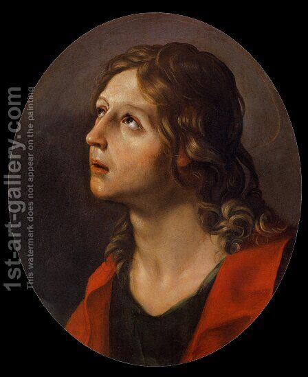 Saint John the Evangelist by (after) Guido Reni - Reproduction Oil Painting
