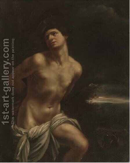 Saint Sebastian by (after) Guido Reni - Reproduction Oil Painting