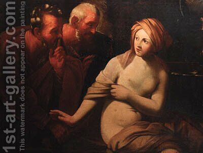 Susanna and the Elders by (after) Guido Reni - Reproduction Oil Painting