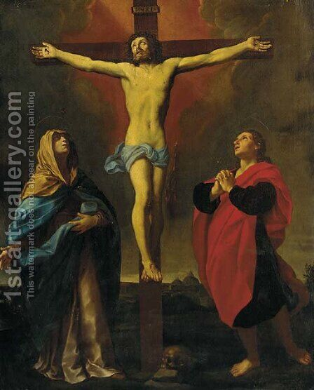 The Crucifixion 2 by (after) Guido Reni - Reproduction Oil Painting