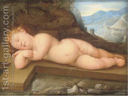 The Sleeping Christ Child by (after) Guido Reni - Reproduction Oil Painting