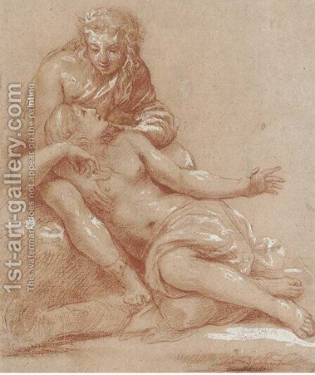 Venus and Adonis by Giulio Romano (Orbetto) - Reproduction Oil Painting