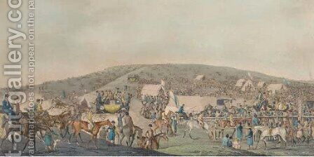 Epsom races by (after) Henry Alken - Reproduction Oil Painting