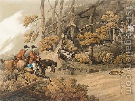 Fox hunting Throwing off by (after) Henry Alken - Reproduction Oil Painting