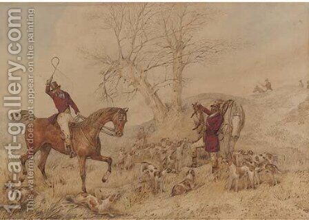 The kill by (after) Henry Samuel Jun Alken - Reproduction Oil Painting