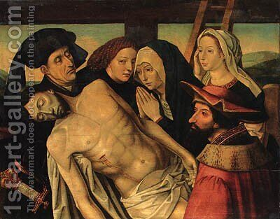The Lamentation by Hugo Van Der Goes - Reproduction Oil Painting