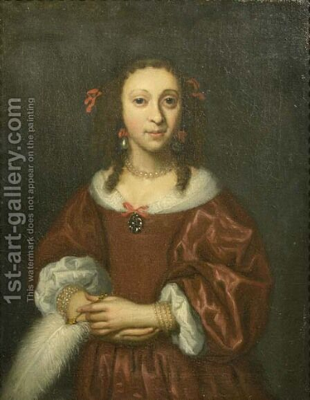 Portrait of a lady by (after) Isaac Luttichuys - Reproduction Oil Painting