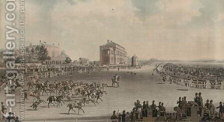 Doncaster races, St. Leger, by Smart and Hunt by (after) James Pollard - Reproduction Oil Painting
