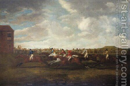 Race for the Claret Stakes, Newmarket by (after) James Pollard - Reproduction Oil Painting