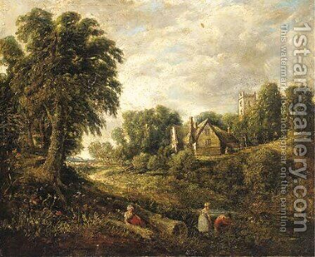 Glebe Farm by (after) Constable, John - Reproduction Oil Painting