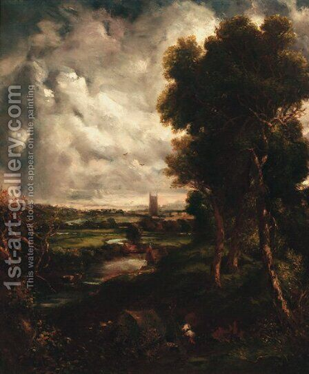 Dedham Vale by (after) Constable, John - Reproduction Oil Painting