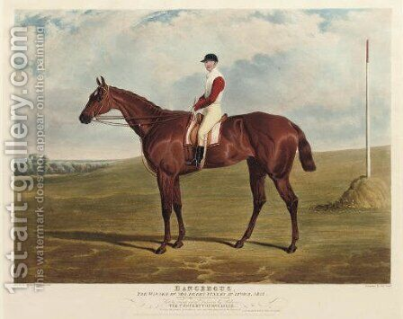 Dangerous, winner of the Derby Stakes at Epsom, 1833, by Charles Hunt by (after) John Frederick Herring - Reproduction Oil Painting