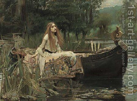 The Lady of Shalott by (after) John William Waterhouse - Reproduction Oil Painting