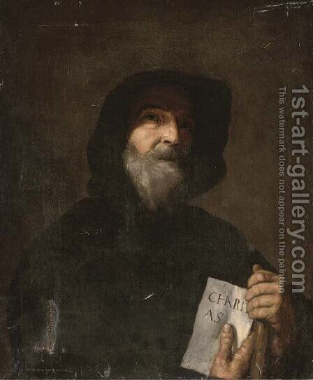 Saint Francesco of Paola by (after) Jusepe De Ribera - Reproduction Oil Painting