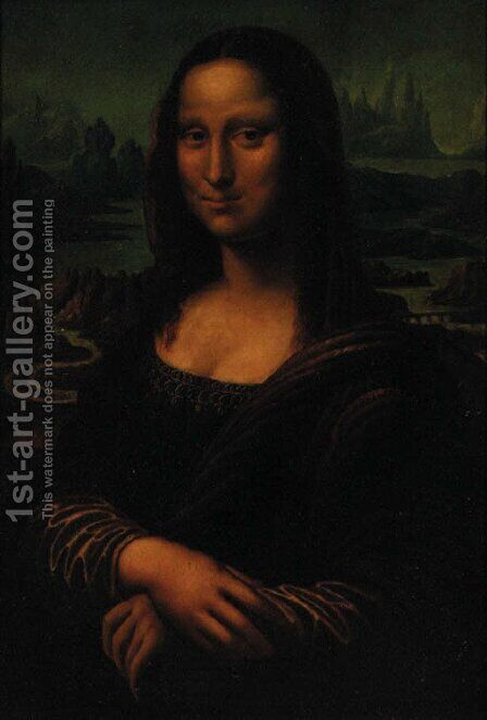 The Mona Lisa by (after) Leonardo Da Vinci - Reproduction Oil Painting